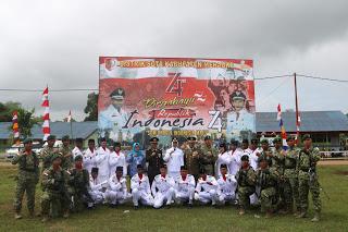 Dari Titik O Km Merauke, Satgas Yonif MR 411 Kostrad Bersama Warga Perbatasan Ikrar Kesetiaan NKRI