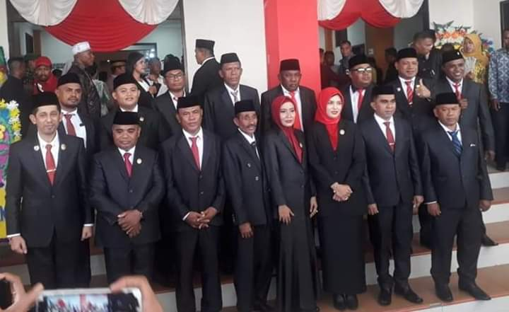Sumpah dan Janji Anggota DPRD Kota Tual 2019- 2024