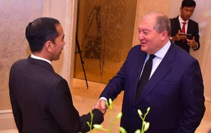 Presiden Jokowi dan Presiden Armenia Bahas Peningkatan Kerjasama IT dan Fasilitas Bebas Visa Kunjungan