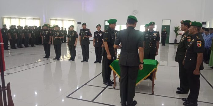 Sertijab Tiga Dandim Dijabat Perwira TNI Berpangkat Kolonel